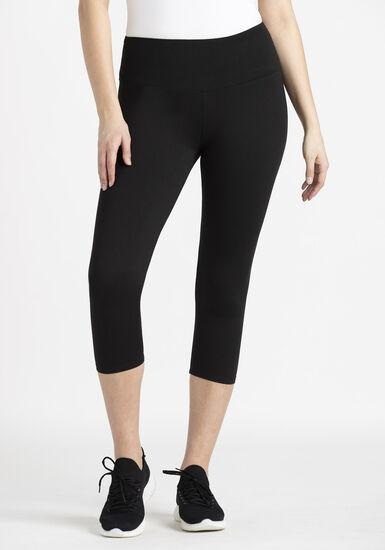 Women's Super Soft Capri, BLACK, hi-res