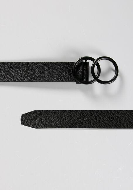 Women's Double O Belt, BLACK, hi-res