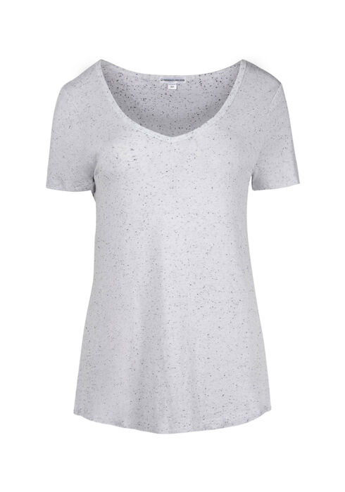 Women's Speckle V-neck Tee, WHITE, hi-res