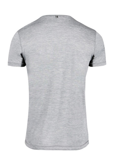 Men's Colour Block Athletic Tee, LIGHT GREY, hi-res