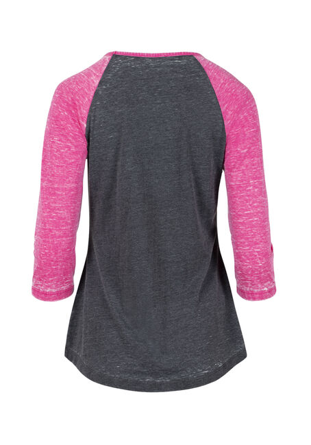 Women's Lake Bum Baseball Tee, FLAMINGO, hi-res