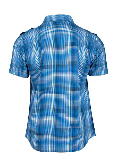 Men's Plaid Shirt, ROYAL BLUE, hi-res