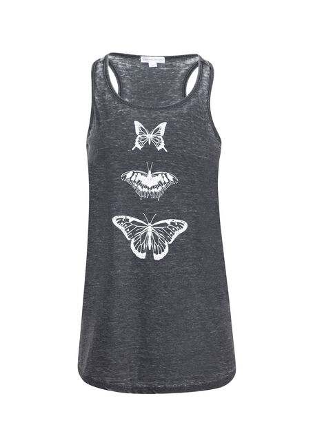 Women's Butterfly Burnout Racerback Tank