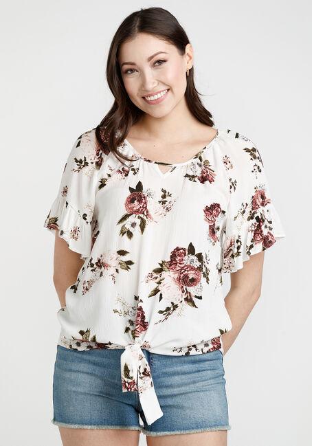 Women's Flutter Sleeve top