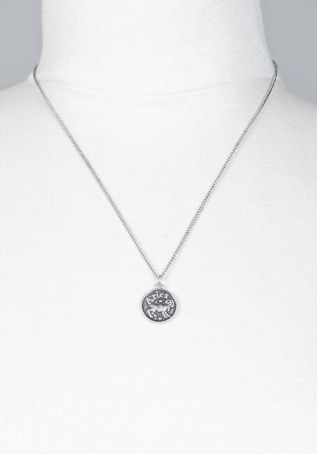 Aries Pendant Necklace, SILVER, hi-res