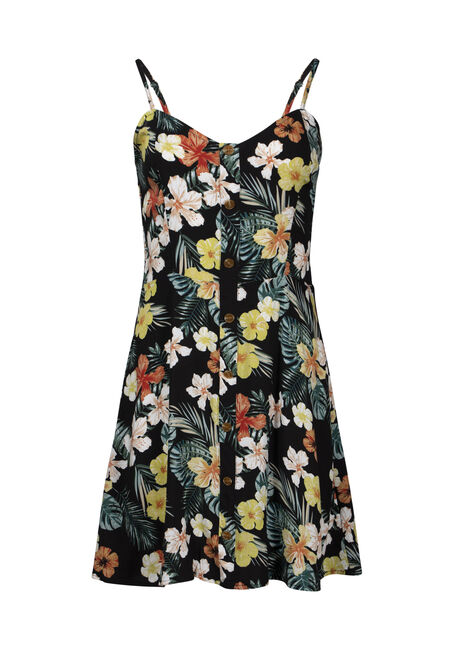 Women's Palm Print Dress