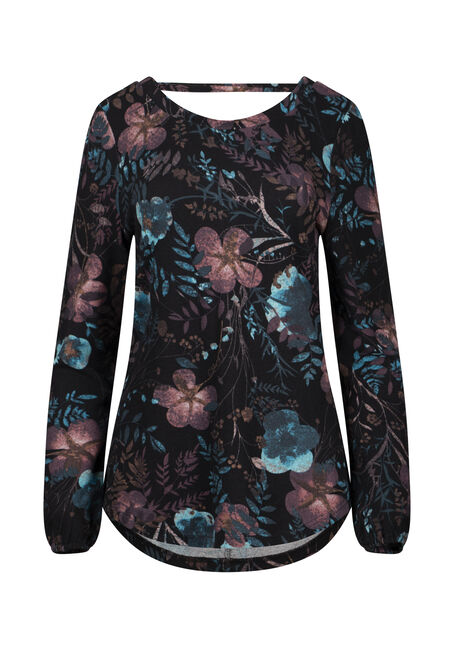 Women's Dark Floral V-Back Top