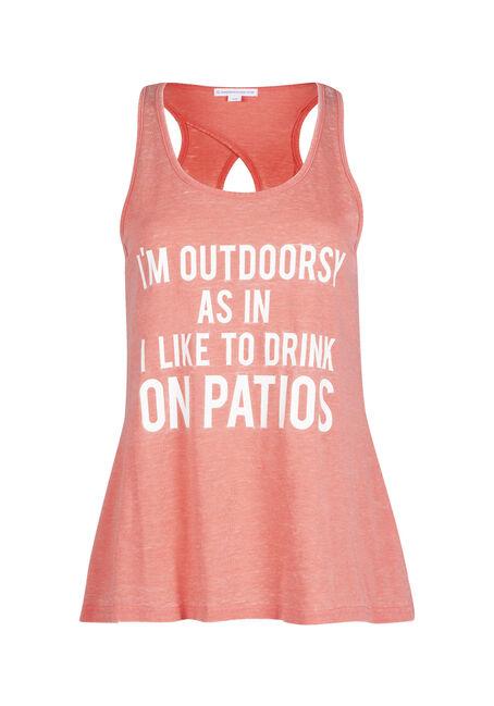 Ladies' Drink On Patio Keyhole Tank