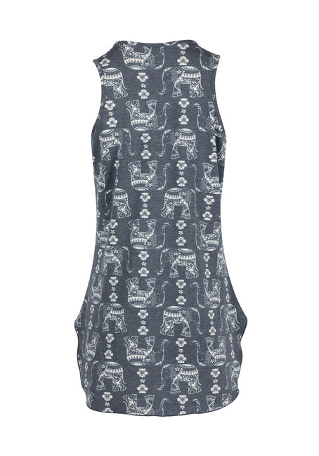 Ladies' Elephant Tunic Tank, NAVY, hi-res