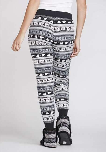 Women's Polar Bear Jogger, BLK/WHT, hi-res