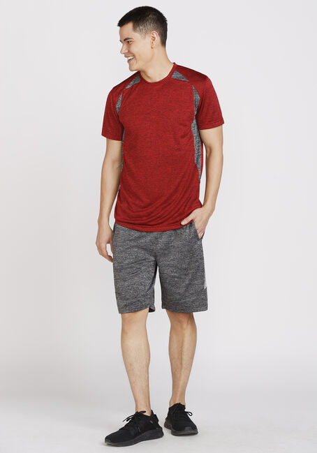 Men's Athletic Crew Neck Tee, RED, hi-res