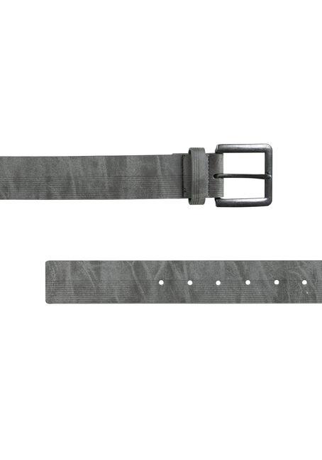 Men's Etched Lines Belt, GUN METAL, hi-res