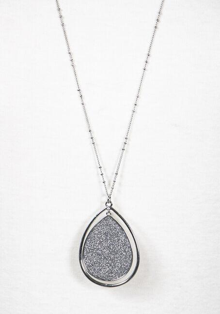 Women's Shimmer Necklace, SILVER, hi-res