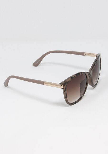 Women's Pink Frame Tort Sunglasses, BROWN, hi-res
