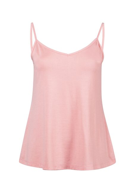 Women's Reversible Relaxed Strappy Tank, PINK LEMONADE, hi-res