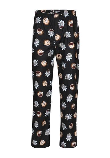 Men's Rick & Morty Lounge Pant, BLACK, hi-res