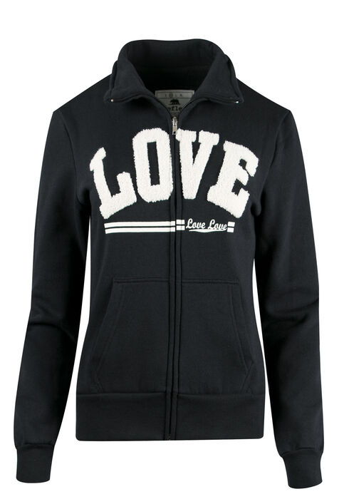 Ladies' Love Track Jacket, BLACK, hi-res