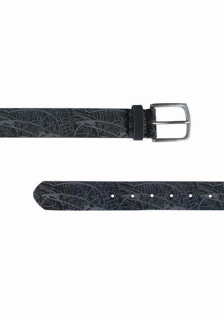 Men's Textured Belt, BLACK, hi-res