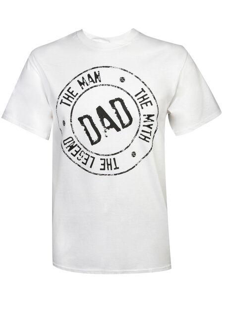 Men's Dad - The Man, Myth & Legend Tee