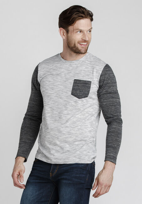 Men's Everyday Long Sleeve Tee, CHARCOAL, hi-res