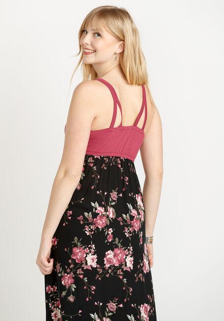 Women's Colour Block Maxi Dress, PINK CLAY, hi-res