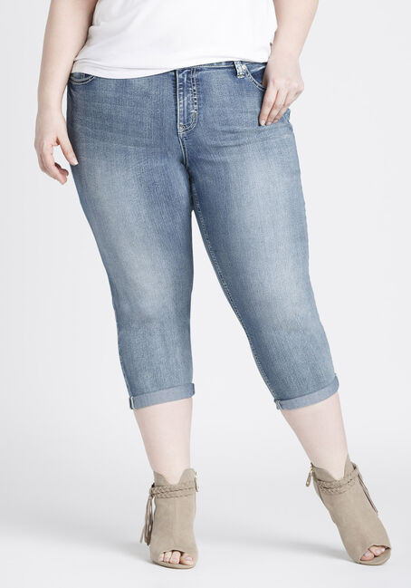 Ladies' Plus Size Slim Capri