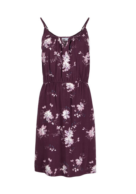 Women's Floral Keyhole Dress