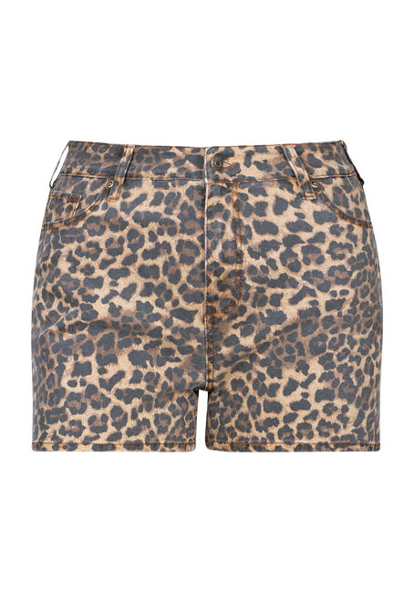 Women's Plus Size High Rise Leopard Print Short