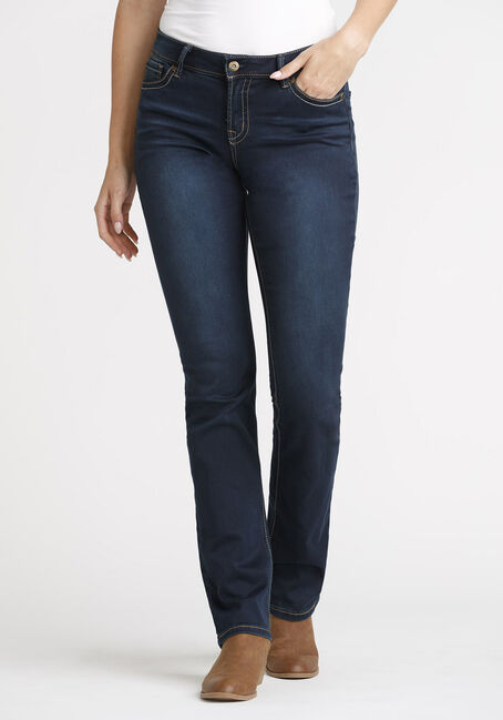 Women's Dark Wash Straight Jeans