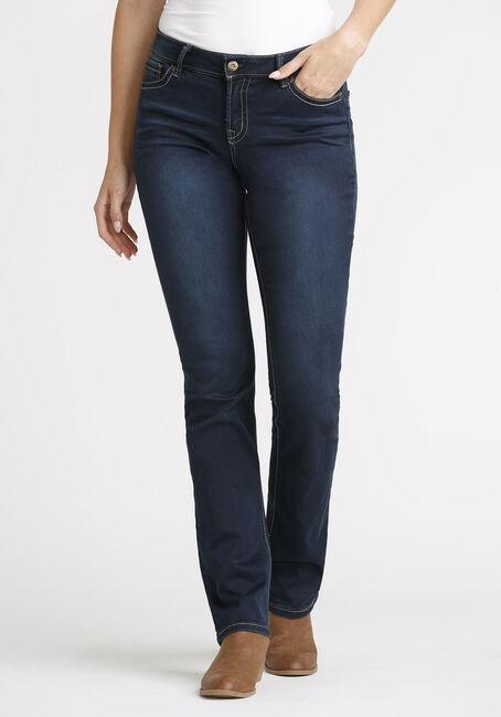 Women's Dark Wash Straight Jeans