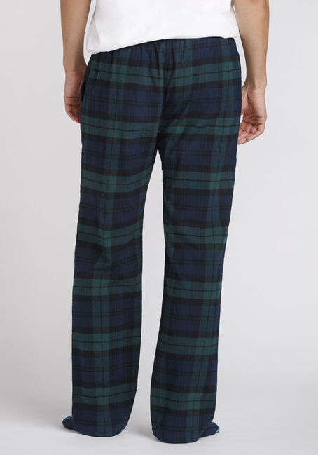 Men's Plaid Flannel Sleep Pant, EVERGREEN, hi-res