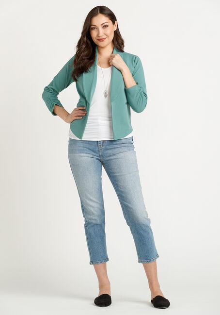 Women's Knit Blazer, JADE VINE, hi-res