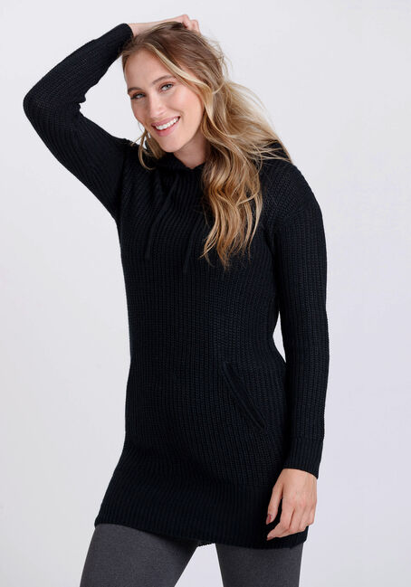 Women's Hooded Tunic Sweater