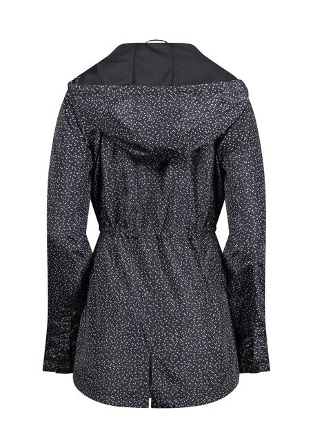 Women's Speckled Anorak Jacket, BLK/WHT, hi-res