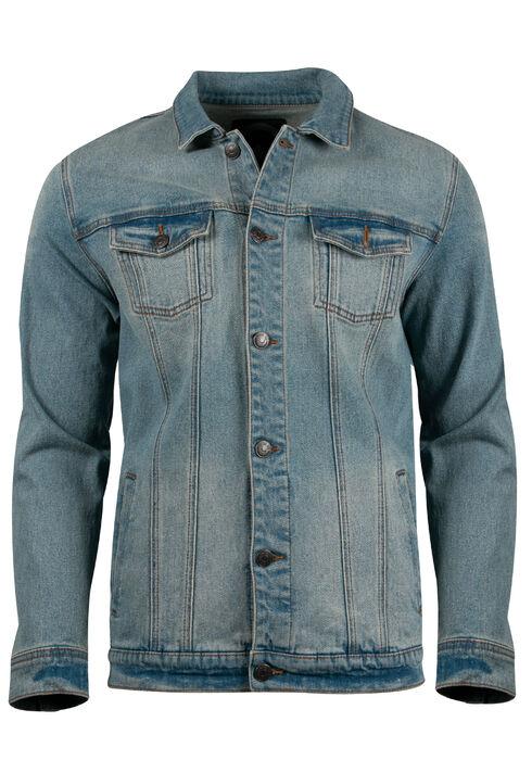 Men's Denim Jacket, LIGHT WASH, hi-res