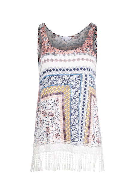 Ladies' Floral Patchwork Print Tank
