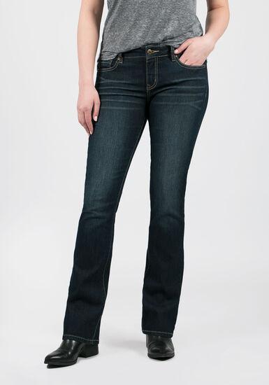 Women's Dark Wash Baby Boot Jeans, DARK WASH, hi-res