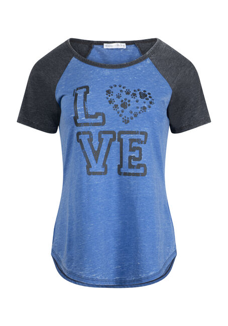 Women's Puppy Love Baseball Tee