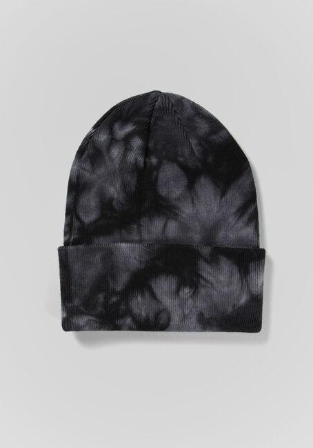 Women's Tie Dye Beanie, BLACK MIX, hi-res