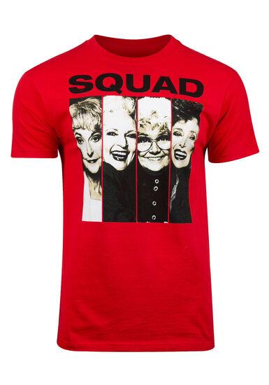 Men's Golden Girls Squad Tee, RED, hi-res