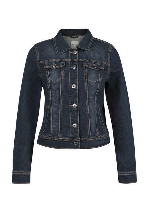 Ladies' Jean Jacket, DARK WASH, hi-res