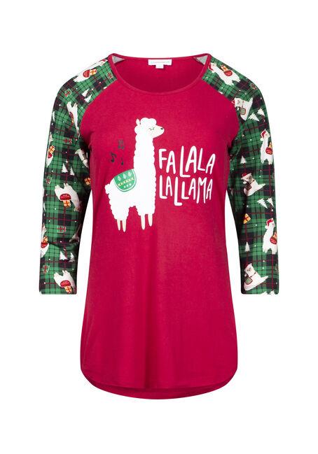 Women's Fa La Llama Baseball Tee