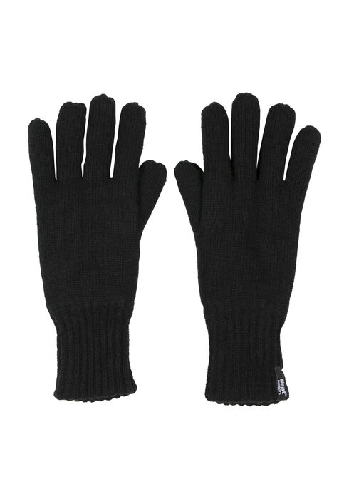 Men's Thermal Gloves, BLACK, hi-res