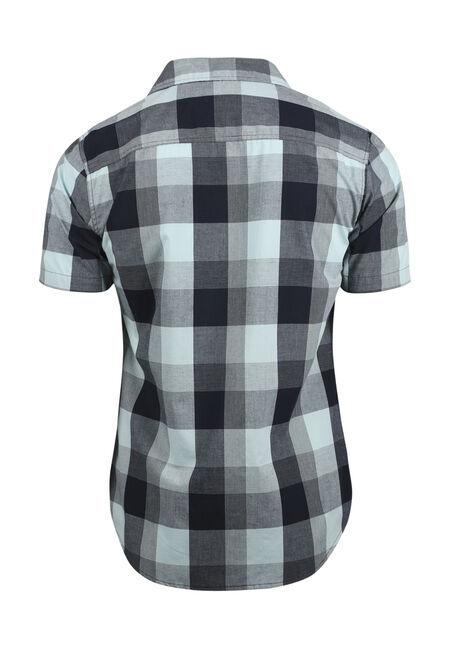Men's Plaid Shirt, MINT, hi-res
