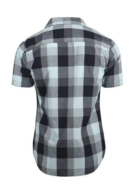 Men's Plaid Shirt, MINT, hi-res
