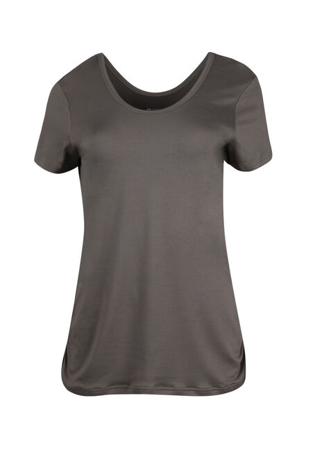 Ladies' Scoop Neck Ruched Side Tee