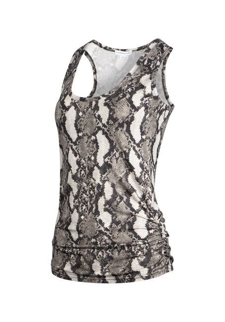 Women's Snake Print Super Soft Tank, NATURAL, hi-res