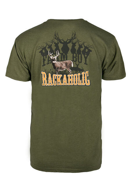 Men's Rackaholic Tee, GREEN, hi-res