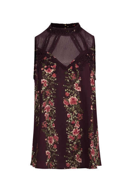 Ladies' Floral Lace Tank