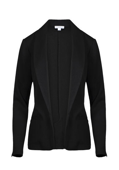 Women's Classic Blazer, BLACK, hi-res
